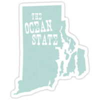'Rhode Island State Slogan Motto' Sticker by surgedesigns