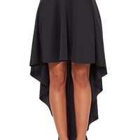 Good Time USA High Low Skirt - Black from Goodtime USA at ShopRoxx.com