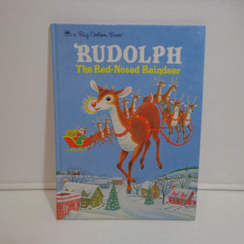 Vintage Rudolph the Red Nosed Reindeer Illustrated Children's Story Book by Golden Books, 1985, Gifts Under 10