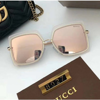 GUCCI Women'sThe new women's polarized sunglasses with a large frame and thin face sunglasses with sunglasses, 8027 sunglasses, uv light.
