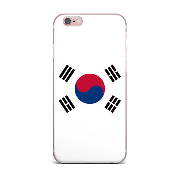 "Bruce Stanfield ""Flag of Korea"" White Digital iPhone Case"