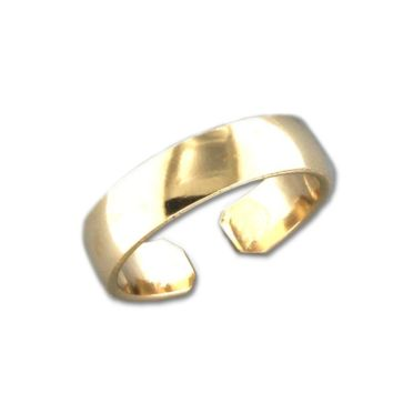 Low Dome Adjustable Toe Ring - Gold Filled