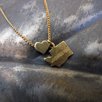 Washington Love - State Charm Necklace