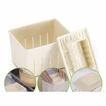 Tofu Making Machine Set DIY Plastic Homemade Tofu Maker Press Mold Kit Soy Pressing Mould with Cheese Cloth ustensile cuisine