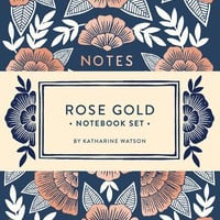 Rose Gold Notebook Set: Two Foil-Stamped Notebooks Diary – September 20, 2016