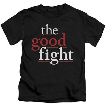 The Good Fight Boys T-Shirt Logo Black Tee