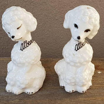 Vintage Poodles Salt And Pepper Shakers , Made in Japan , Vintage Dogs , Kitsch poodle