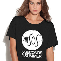 5 Seconds of Summer Ladies Flowy Top
