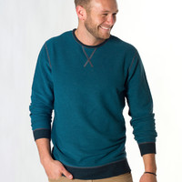 Reversible Crewneck Sweatshirt - Maritime Blue : Marine Layer