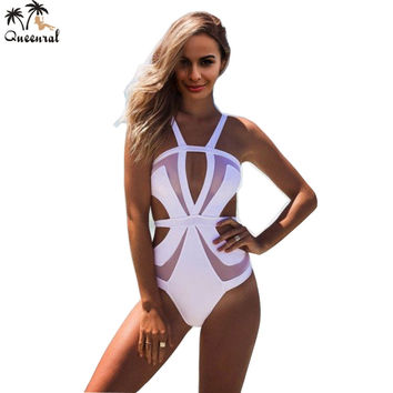 one piece swimsuit  sexy swimwear swimsuit Women monokini swimsuit solid female bathing suit  one piece swimming suit for women