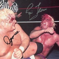 DUSTY RHODES RIC FLAIR SIGNED PHOTO 8X10 RP AUTO AUTOGRAPHED WWE WRESTLING