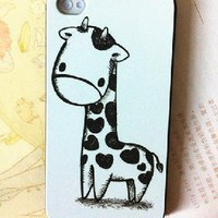 Lovely Cartoon Giraffe Case for Iphone 4/4s from 1Point99.com