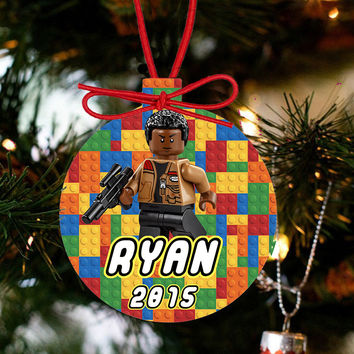 Personalized Christmas LEGO Ornament - Lego Movie Character FINN