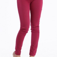 Fuchsia Dreams Skinny Pants