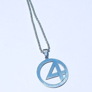 Fantastic Four Necklace, Fantastic Four Charm, Superhero Necklace, Marvel Necklace, Superhero Jewelry, Marvel Comics, The Thing, Human Torch