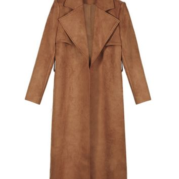 Lynna Suede Trench Coat