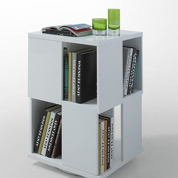 Modrest Edifice Modern White Lacquer Magazine Rack