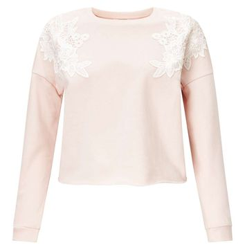 PETITE Applique Sweat | Missselfridge