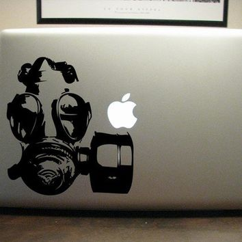 Gas Mask Decal  Vinyl Sticker  For Car Window Laptop by urbandecal