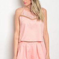 122-1-3-SET1588 PEACH TOP & SHORTS SET 2-2-2