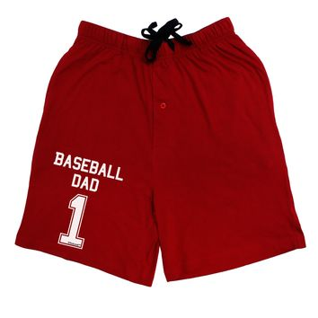 Baseball Dad Jersey Adult Lounge Shorts  by TooLoud