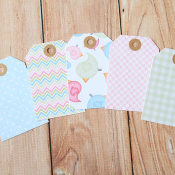Birdies set pretty print Luggage Tags