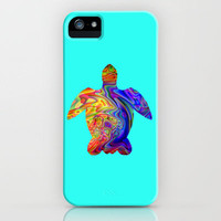 Psychedelic Sea Turtle iPhone Case by JT Digital Art  | Society6