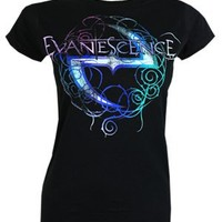 Evanescence Worn Ladies Black T-Shirt - Offical Band Merch - Buy Online at Grindstore.com