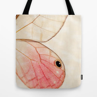 Pink Glasswing 1 Tote Bag by Erin Johnson