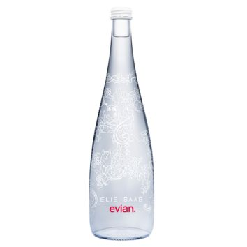 Evian 2015 evian Limited Edition bottle by ELIE SAAB - ShopBAZAAR
