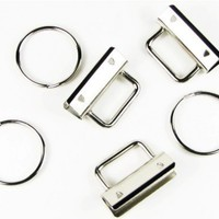 50 - Country Brook Design® 1 1/4 Inch Key Chain Fob Wristlet Hardware Set With Key Ring