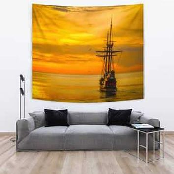 TAPESTRY SHIP AT SEA