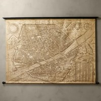 1595 Florence Scrolled Map | Maps | Restoration Hardware