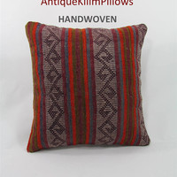 kilim pillow case kilim pillow cover couch pillow cover couch pillow case decorative pillow kilim rug pillow throw bedroom decor 000036