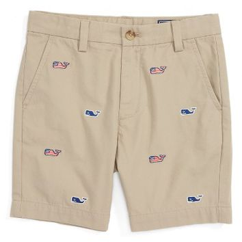 Vineyard Vines Flag Whale Embroidered Breaker Shorts (Toddler Boys & Little Boys) | Nordstrom