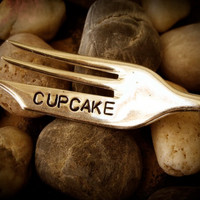 CUPCAKE Upcycled Vintage Silverware dessert by pumpernickelandwry