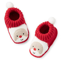 Christmas Crocheted Santa Booties