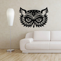 Owl Wall Decals Bird Stickers Vinyl Decal Baby Nursery Bedroom Home Decor LM116