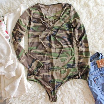 Dixon Cozy Bodysuit in Camo