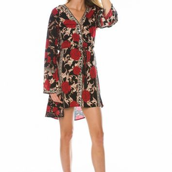 Carolina Rose Kimono in Midnight