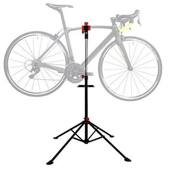 Hromee Portable Pro Mechanic Bike Repair Stand,Adjustable Height Bicycle Maintenance Rack Workstand With Tool Tray