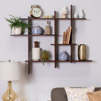Belham Living Crosshatch Display Wall Shelf - Wall Shelves & Hooks at Hayneedle