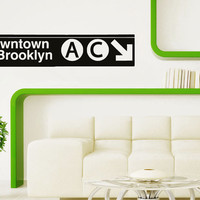 Wall Decal Vinyl Sticker Decals Art Decor Design metro pointer  New York NY Brookln Words Letters City TownDorm Bedroom Office (r1085)