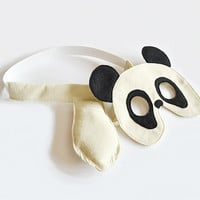 Panda Mask and Tail for Children, Kids Halloween Costume, Eco Friendly Dress up Toy to Play Pretend for Girls Boys and Toddlers
