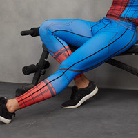 Spiderman 3D Printed Pattern Compression Tights Pants Men Sweatpants Captain America Fitness Skinny Leggings Trousers Male