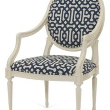Philippe Accent Chair, Indigo/Cream, Accent & Occasional Chairs