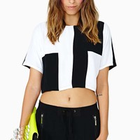 Motel Cool Block Crop Top