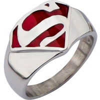 Stainless Steel Superman Ring Men Boy Kids Size 5 to 15 = 1946653700