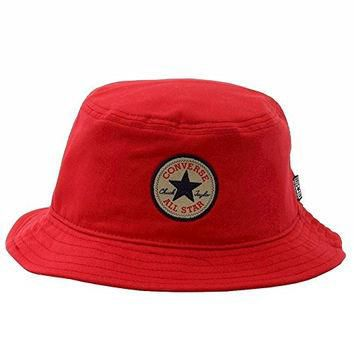 Converse All Star Men's Classic Red Bucket Cap Hat (One Size Fits Most)