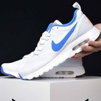 NIKE AIR MAX breathable cushioning air cushion running shoes F-CSXY white+blue hook